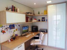 quarto e home office juntos - Pesquisa Google