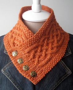 Free knitting pattern for Celtic Cable Neck Warmer and more neck warmer knitting…