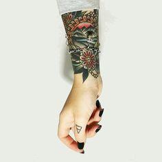 mountain old school tattoo