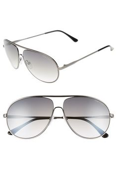 f3c48c9e0bc Tom Ford  Cliff  61mm Aviator Sunglasses available at  Nordstrom Cute  Sunglasses