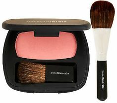 """Find the perfect blush for you with @bareMinerals  Ready Blush with Brush.  This light pink shade is called """"The One"""" for a good reason! #NaturalBEauty"""