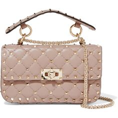 The Rockstud Spike Small Quilted Leather Shoulder Bag - Blush Valentino 7DlB1