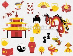 chinese set clipart