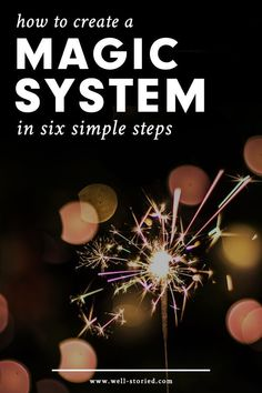 Are you looking to liven up your story world with a little magic, writer? Learn to create original and believable magic systems today in just six simple steps! Writer Tips, Book Writing Tips, Writing Resources, Writing Help, Novel Tips, Writer Workshop, Writing Images, Types Of Magic, Writing Fantasy