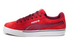 Puma Shoes Red/Burgundy Original Suede Classic Mens Lo Sneakers