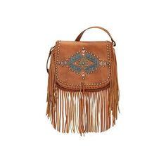 Women's American West Pueblo Moon Fringe Crossbody Flap Bag ($228) ❤ liked on Polyvore featuring bags, handbags, shoulder bags, casual footwear, casual handbags, golden tan, leather pouch, leather crossbody, leather shoulder bag and leather man bags