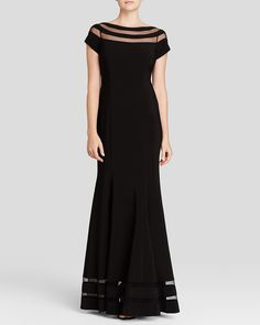 JS Collections Gown - Boat Neck Cap Sleeve | Bloomingdale's