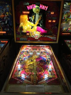 Mata Hari, a beautiful 1970's Bally table.  This is a solid state version...it was also produced in an electro-mechanical version.