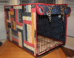 Custom Designed Small Pieced Quilted Dog Crate Cover Up To 22l X 13w X 16h…