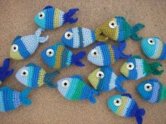 Ravelry: Striped crochet fish pattern by vicky vicx