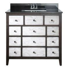 Pegasus Bentwood 36 in. Vanity with Black Granite Top and White Rectangular Basin-11808-VS37A at The Home Depot