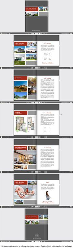 Immobilien Expose kostenlos online erstellen und günstig drucken unter https://de.magglance.com/immobilien-expose-vorlage #Immobilien Expose #Immobilien Makler #Vorlage #Design #Muster #Beispiel #Template #Gestalten #Erstellen #Layout