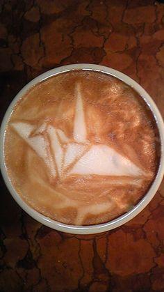 Crane Origami Coffee (Japanese Latte Art)