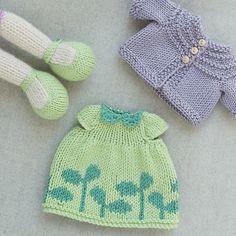 Knit from Little Cotton Rabbits patterns: Seasonal Dresses and Seasonal Sweaters