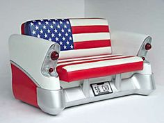 New Job for old cars – Unique furniture from old car parts . Car Part Furniture, Automotive Furniture, Automotive Decor, Unique Furniture, Furniture Making, Furniture Design, Furniture Plans, Kids Furniture, Recycled Furniture