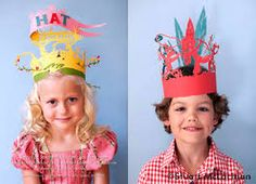 Oh these kiddos are beautiful. From a whimsical paper party hats photoshoot made by Stuart McLachlan. Diy For Kids, Crafts For Kids, Art Postal, Crown Party, Paper Crowns, Kids Hats, Childrens Party, Little People, Party Hats