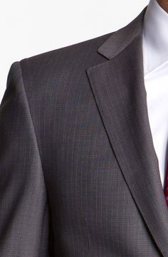 Canali Wool Suit in Gray for Men (charcoal) | Lyst