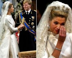 Princess Maxima of Netherlands on her wedding day to Prince Willem Alexander in February 2002.