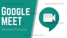 Google Meet App - The Google Meet App is One of the Best Apps for Smooth Communication | Tecteem Google Talk, Use Google, Google Docs, Google Drive, Google Hangouts, Do Video, Video Clip, Home Learning, Google Classroom