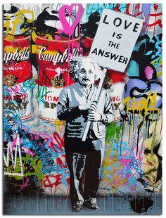Love Is The Answer Albert Einstein Banksy Graffiti Spray