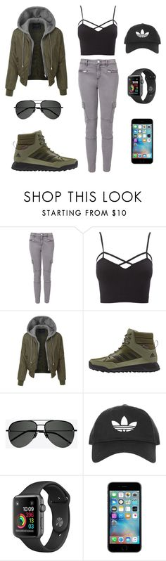 """""""Look of the Day #202!"""" by designer01kitty ❤ liked on Polyvore featuring Witchery, Charlotte Russe, LE3NO, adidas, Yves Saint Laurent, Topshop, lookoftheday, militarygreen and plus size clothing"""