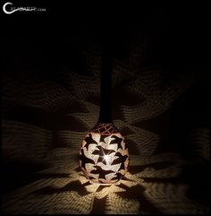 The interlocking designs of Krawczynski's lamps showcase his engineering skills.