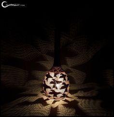 The interlocking designs of Krawczynski's lamps showcase his engineering skills.