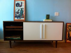 Kasse Media Credenza with Record Player Pull-Out Shelf. $1,250.00, via Etsy.