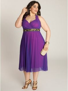 Victoria Plisse Plus Size Dress - Evening Dresses by IGIGI