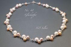 ♥ No.41 ♥ Brautschmuck - 925 Silber,Süßwasser von Glashüpfer auf DaWanda.com