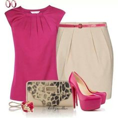 A fashion look from July 2013 featuring sleeveless tops, mini skirts and christian louboutin shoes. Browse and shop related looks. Work Fashion, Skirt Fashion, Fashion Looks, Fashion Outfits, Womens Fashion, Fashion Design, Style Fashion, Classy Outfits, Casual Outfits
