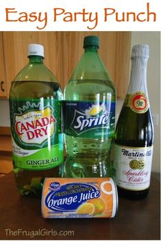 Easy Party Punch Recipe! ~ from TheFrugalGirls.com {this punch recipe comes together in a snap and is delicious served at parties, showers or a wedding!} #punches #recipes #thefrugalgirls