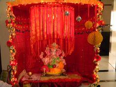 mirror balls, honeycomb balls and flower decor on my favourite festival...GANESH CHATURTHI :)
