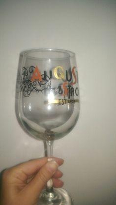 Personalized busniess wine glass