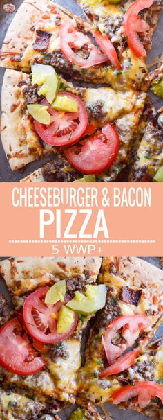 Bacon and Cheeseburger Pizza - 5 WWP+ per serving - Recipe Diaries