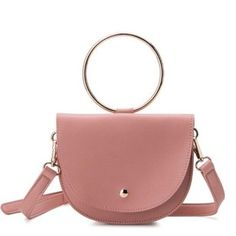 iBESTEST.com Pink Trendy Womens Womens Pink Pink Accent Handle Cross Body Bag