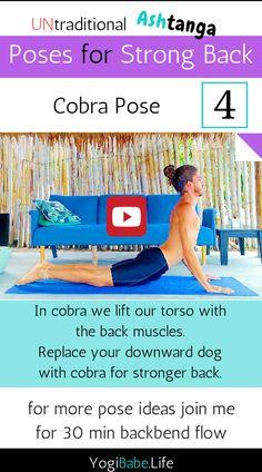 In my 'UNtraditional Ashtanga' flows, I use the foundation of the Ashtanga system and modified it into 30-45 min flow for specific purpose.  How I Do It? Simple, I replace some poses with alternative ones to aid me achieve my goal, like replacing downward dog with cobra pose.