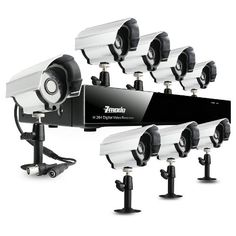 Wireless Security Camera System, Wireless Security Cameras, Security Surveillance, Surveillance System, Security Systems, Dvr Cctv, Camera Deals, Digital Video Recorder, Video Security