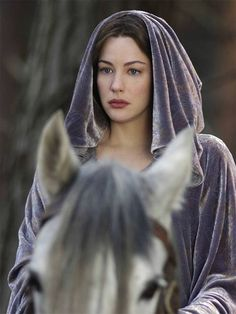 "Liv Tyler as Arwen in ""The Lord of the Rings"" (Medieval/Fantasy) Legolas, Aragorn, Gandalf, Arwen Lotr, Elvish, Thranduil, Liv Tyler, Steven Tyler, Jrr Tolkien"
