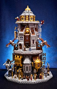 SKYHOLM- the flying city by Fianat, via Flickr, Steampunk LEGO
