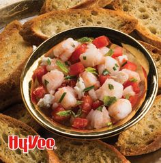 Making the topping for Seafood Bruschetta ahead of time saves you time and improves the flavor. Love those win-win recipes.