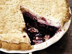 Really nice recipes. Every hour. • Gluten-Free Blueberry Cheesecake Pie With Lavender...