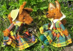 Lady Foxes Toy Chestnut Furry Animal Art Dolls by COLDHAMCUDDLIES