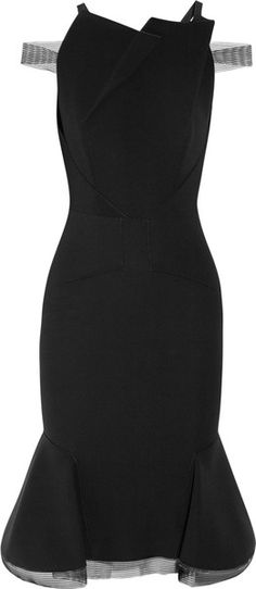 ROLAND MOURET Jos Flared Stretchcrepe Dress