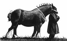 Quiet Spirit, Skillful Hand: The Graphic Work of Clare Leighton Norman Rockwell, Rockwell Kent, Work Horses, Scratchboard, Black And White Drawing, Chiaroscuro, Wood Engraving, Linocut Prints, Horse Art
