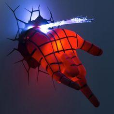 Lámpara mano spiderman para habitación infantil