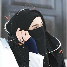 Cute Muslim Couples, Muslim Girls, Cat Anime, Anime Manga, Hijabi Girl, Girl Hijab, Cartoon Girl Drawing, Girl Cartoon, Islamic Girl Pic