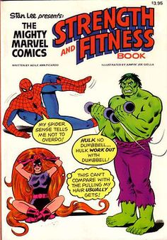 Stan Lee Presents: The Mighty Marvel Comics Strength and Fitness Book available at Amazon.