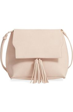 Sole Society Tassel Faux Leather Crossbody Bag available at #Nordstrom