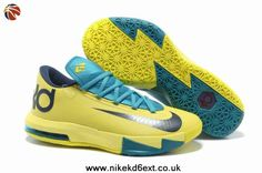 new arrival ee977 b13c9 599424-700 Nike KD VI Yellow Teal-Navy Youtube, Navy Shoes, Kobe